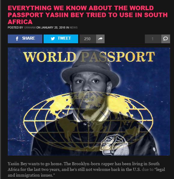 Yasiin Bey and the World Passport