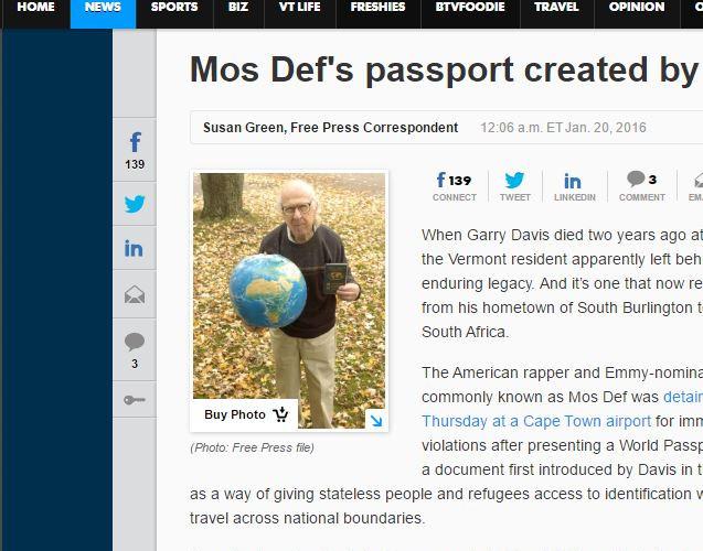 Mos Def passport
