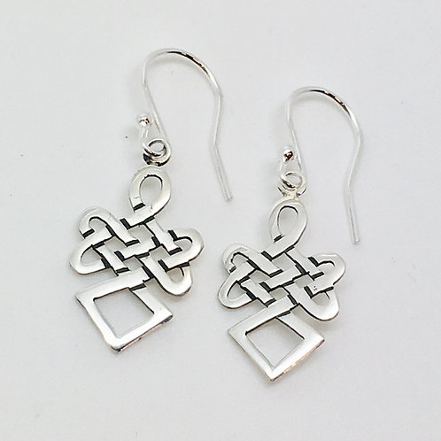 Sterling Silver celtic earrings no14