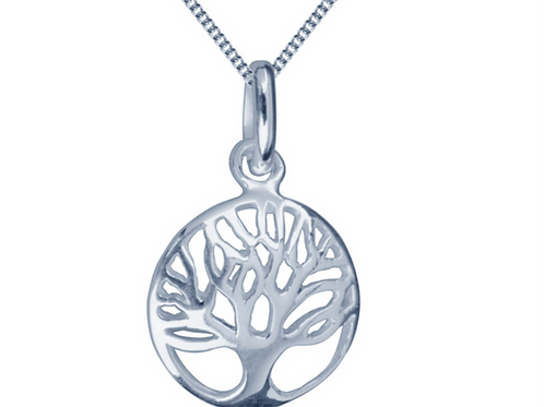 Small Silver Pendant Tree Of Life