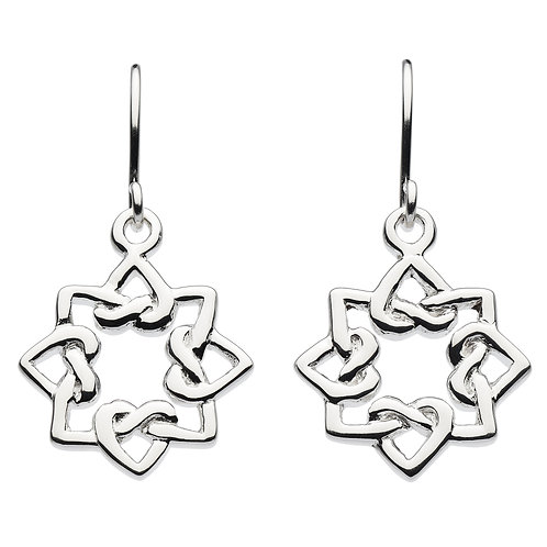 Oriana Heart Knot Drop Earrings