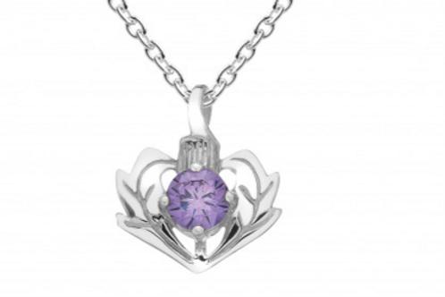 Lavena Amethyst Thistle Necklace