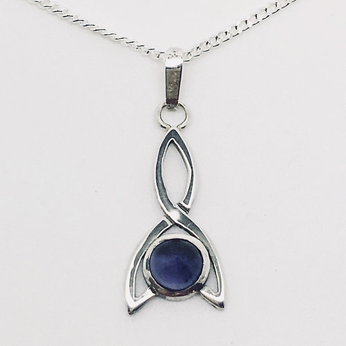 Sterling Silver Stoneset Simple Celtic pendant