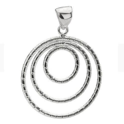 Sterling Silver Tri-circle Design Pendant