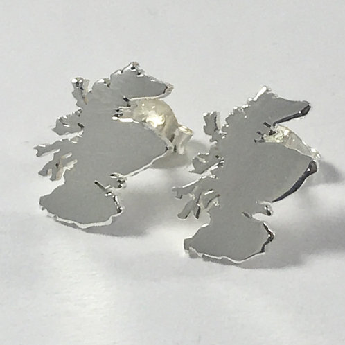 Sterling Silver Scotland stud earrings