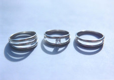 curved link rings