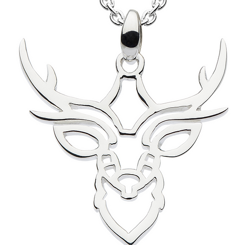 Stag Head outline pendant
