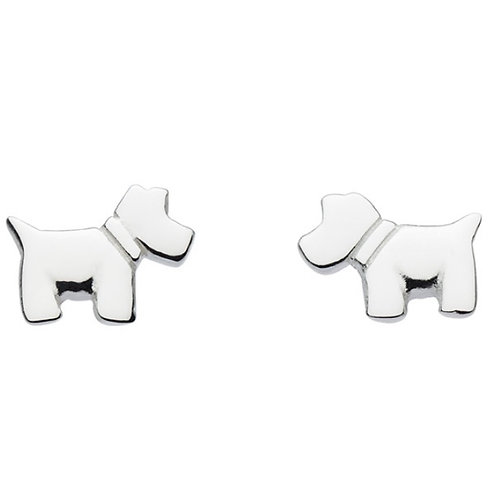 Mini Scotty Dog Stud Earrings