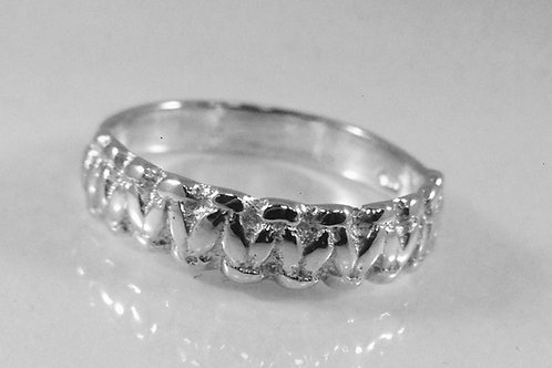 Sterling Silver Knotted Ring