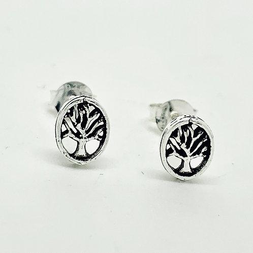 Tree of life small stud earrings