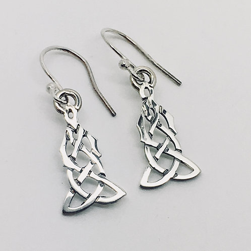 Siver celtic earrings no9