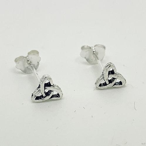 Celtic trinity silver stud earrings