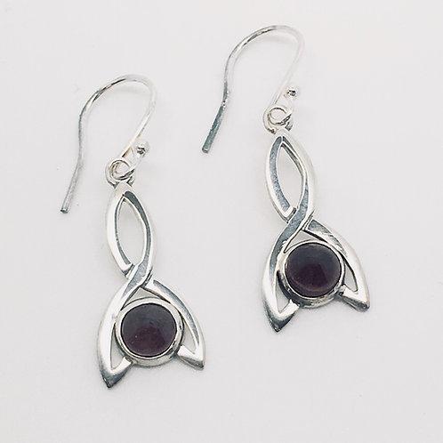 Sterling Silver Stoneset Simple Celtic Earrings