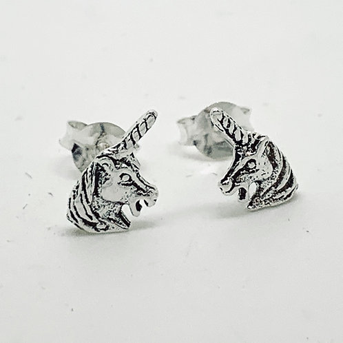 Unicorn head stud earrings