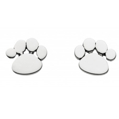 Charming Paw Print Stud Earrings