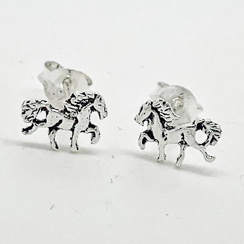 Horse stud earrings