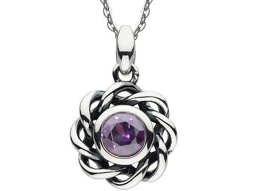 Amethyst Crystal Twist Necklace