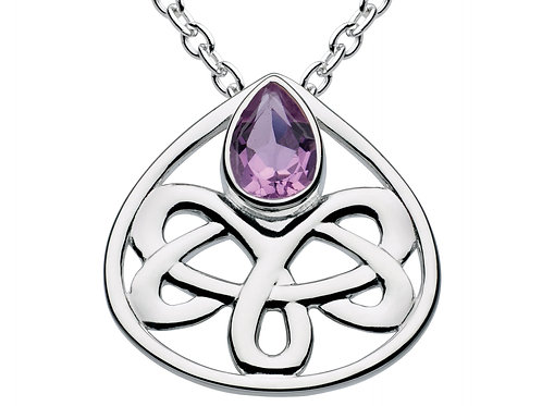 Alana Celtic Amethyst Teardrop Necklace