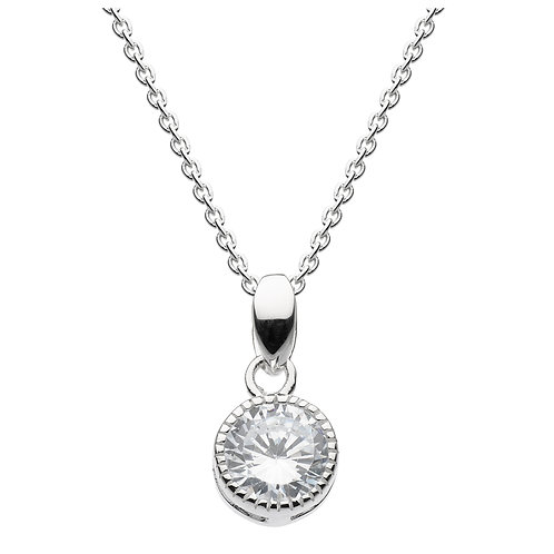 Vintage Pendant Sterling Silver Cubic Zirconia