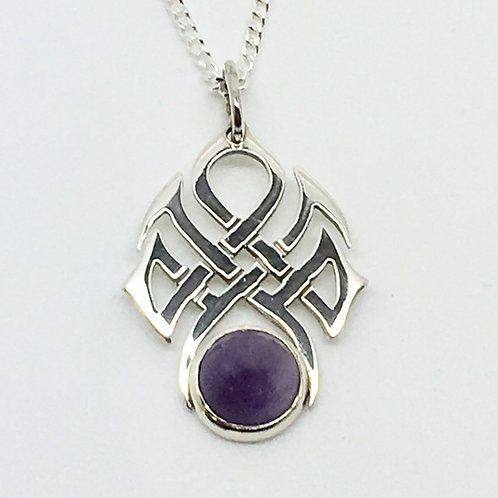 Sterling silver Celtic stoneset pendant no 1
