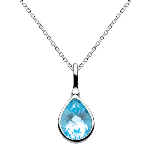 Topaz Tear Drop Pendant large