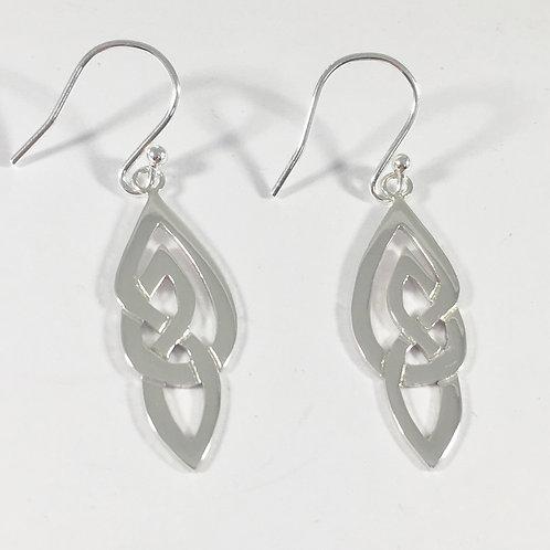 Sterling Silver celtic earrings no5