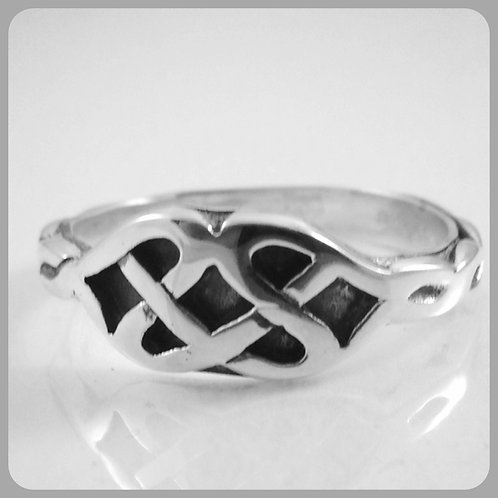 Sterling Silver one Celtic Knot ring