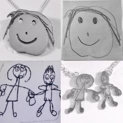 Kids drawing pendants
