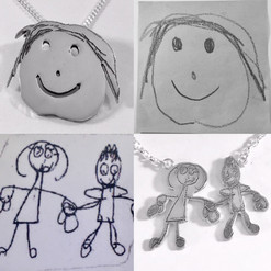 Kids drawing pendants