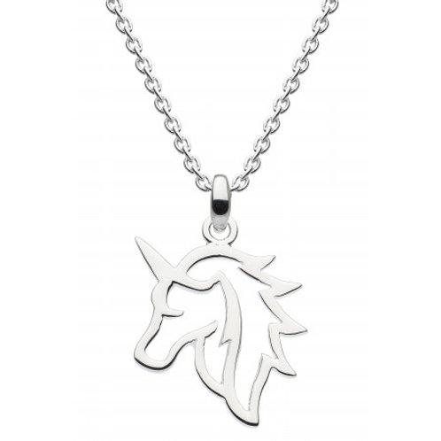 Unicorn Head Outline Pendant