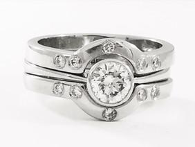 Platinum and diamond rings