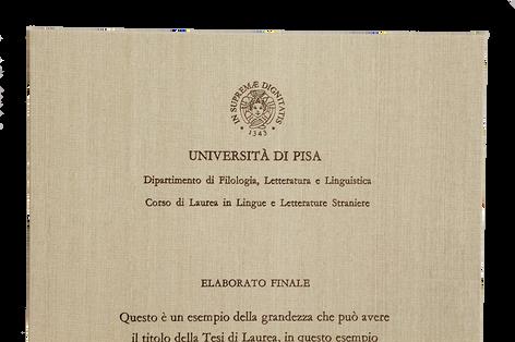 Rilegatura Tesi di Laurea in Fintatela Avorio - Tesi Artigianali Pisa