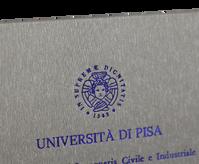 Rilegatura Tesi di Laurea in Similpelle Argento Tango - Tesi Artigianali Pisa