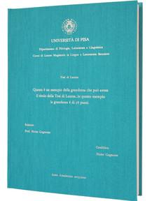 Rilegatura Tesi di Laurea in Fintatela - Tesi Artigianali Pisa