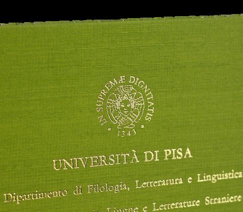 Rilegatura Tesi di Laurea in Fintatela Verde - Tesi Artigianali Pisa