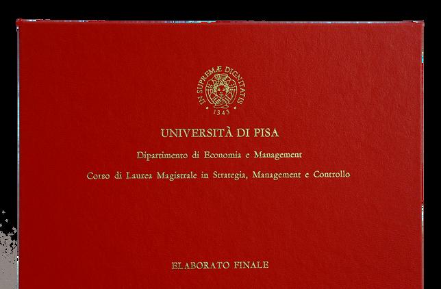 Rilegatura Tesi di Laurea in Similpelle Rossa - Tesi Artigianali Pisa