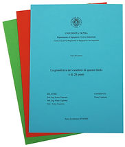 Rilegatura Morbida Tesi di Laurea in Cartoncino Standard - Tesi Artigianali Pisa