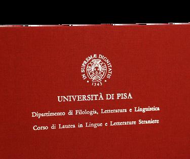 Rilegatura Tesi di Laurea in Tela Bordeaux - Tesi Artigianali Pisa