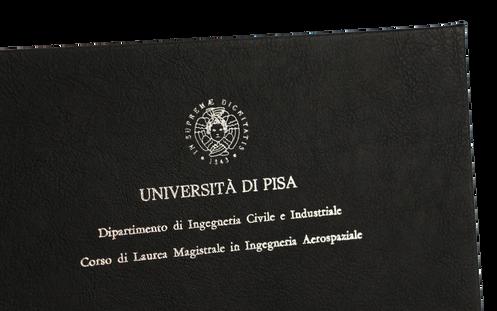 Rilegatura Tesi di Laurea in Ecopelle Nera - Tesi Artigianali Pisa