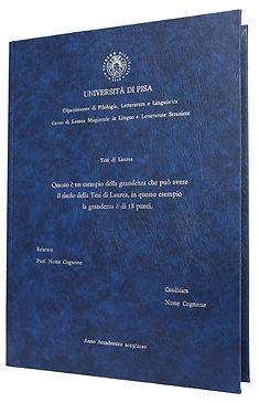 Rilegatura Tesi di Laurea in Similpelle - Tesi Artigianali Pisa