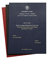Rilegatura Morbida Tesi di Laurea in Ecopelle - Tesi Artigianali Pisa