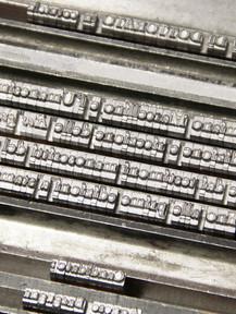 Cliché con Caratteri Tipografici Tesi di Laurea - Tesi Artigianali Pisa