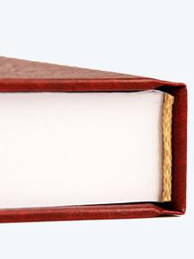 Finitura Rilegatura Tesi di Laurea, dettaglio Capitello - Tesi Artigianali Pisa