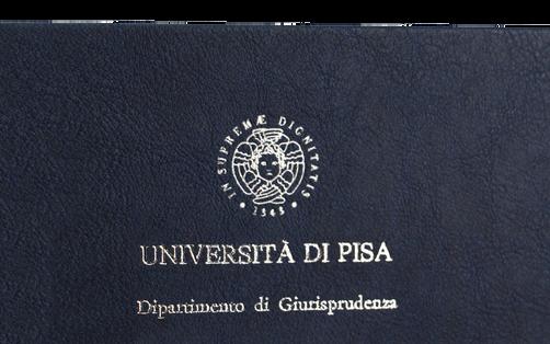 Rilegatura Tesi di Laurea in Ecopelle Blu - Tesi Artigianali Pisa