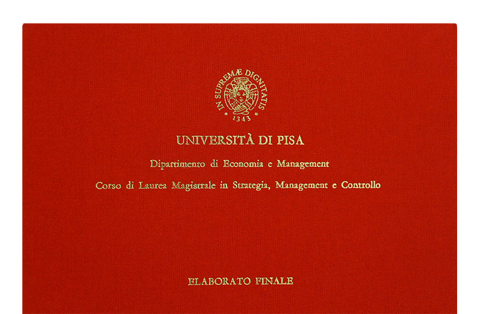 Rilegatura Tesi di Laurea in Tela Rossa - Tesi Artigianali Pisa