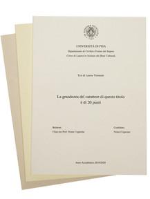 Rilegatura Tesi di Laurea in Cartoncino Ecologico Riciclato - Tesi Artigianali Pisa
