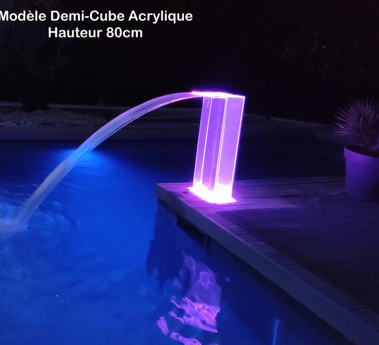 Demi-Cube Acrylique 80 cm