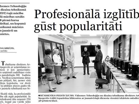 Profesionālā izglītība gūst popularitāti