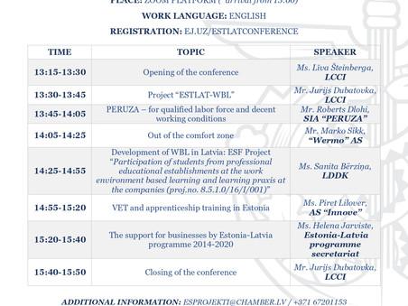 Tiešsaistes konference par izglītību pārrobežu projekta ietvaros