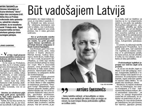 Būt vadošajiem Latvijā